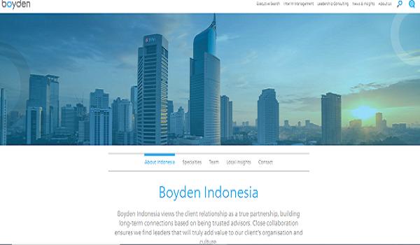 Daftar Recruitment Agency Boyden Indonesia