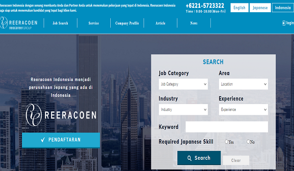Daftar Recruitment Agency REERACOEN Indonesia